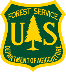 Logo for the U.S. Forest Service. Links to their homepage.