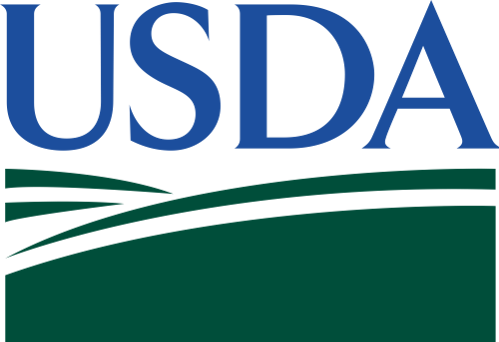 Logo for USDA. Links to their homepage.