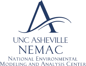 Logo for UNC Asheville's NEMAC. Links to their homepage.