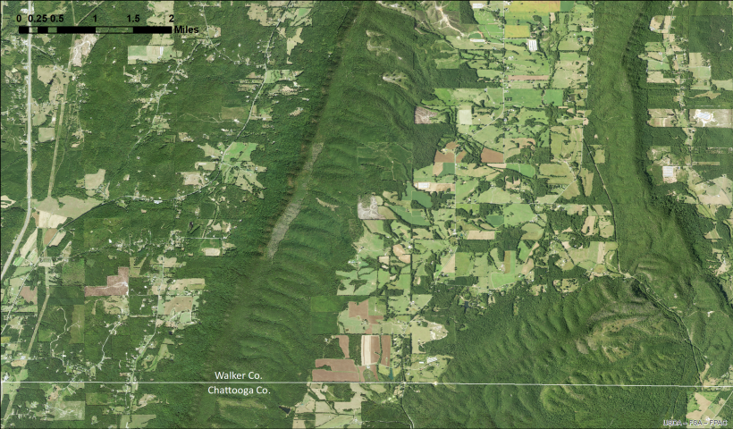 2019 NAIP aerial imagery for Chattooga-Walker Counties