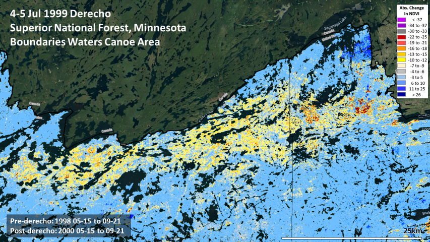 Boundary Waters Canoe Area derecho severity